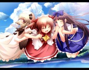 Rating: Safe Score: 12 Tags: ayase_midori luna_child star_sapphire sunny_milk touhou User: fairyren