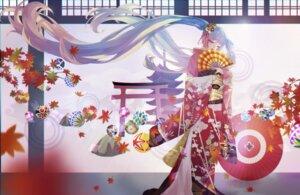Rating: Safe Score: 25 Tags: hatsune_miku kimono m_(artist) umbrella vocaloid User: charunetra