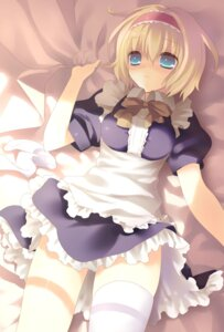 Rating: Safe Score: 35 Tags: alice_margatroid maid nekoiro thighhighs touhou User: charunetra