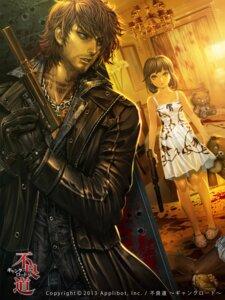 Rating: Safe Score: 20 Tags: blood dress furyou_michi_~gang_road~ gun see_through xaxak User: blooregardo