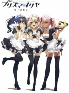 Rating: Safe Score: 72 Tags: cleavage fate/kaleid_liner_prisma_illya fate/stay_night fixme heels illyasviel_von_einzbern kuroe_von_einzbern maid miyu_edelfelt tagme thighhighs User: kiyoe