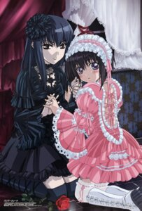 Rating: Safe Score: 33 Tags: bamboo_blade dress garter gothic_lolita kawazoe_tamaki lolita_fashion suzuki_rin thighhighs watanabe_atsuko User: MDGeist