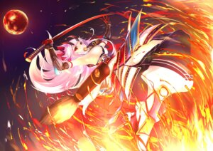Rating: Safe Score: 27 Tags: armor fate/grand_order horns sword tagme tomoe_gozen_(fate/grand_order) User: Nepcoheart
