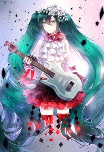 Rating: Safe Score: 19 Tags: guitar hatsune_miku nevakuma thighhighs vocaloid User: Romio88
