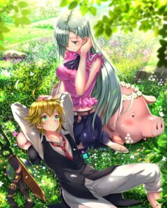 Rating: Safe Score: 20 Tags: elizabeth_liones hawk_(nanatsu_no_taizai) meliodas_(nanatsu_no_taizai) nanatsu_no_taizai swordsouls thighhighs User: Mr_GT