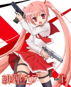 Rating: Safe Score: 21 Tags: disc_cover gun hidan_no_aria iwakura_kazunori kanzaki_h_aria thighhighs User: fireattack
