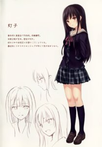 Rating: Safe Score: 70 Tags: fukahire_sanba ruinon seifuku sketch User: donicila