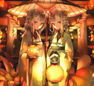 Rating: Safe Score: 63 Tags: animal_ears ayatoki-1 horns kimono umbrella User: Mr_GT