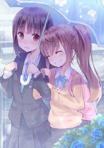Rating: Safe Score: 55 Tags: kyuri seifuku sweater umbrella yuri User: Radioactive