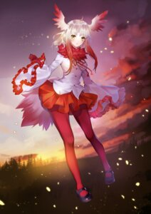 Rating: Safe Score: 38 Tags: crested_ibis kemono_friends pantyhose shente_(sharkpunk) tail wings User: Mr_GT