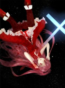 Rating: Safe Score: 17 Tags: blood montre puella_magi_madoka_magica sakura_kyouko thighhighs User: vanilla