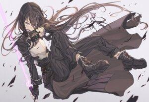Rating: Safe Score: 20 Tags: armor gun gun_gale_online hong kirito sword_art_online torn_clothes User: KazukiNanako