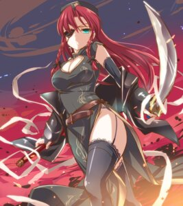 Rating: Safe Score: 30 Tags: chinadress cleavage eyepatch garter_belt hong_meiling moneti nopan stockings sword thighhighs touhou weapon User: Mr_GT