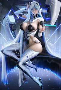 Rating: Questionable Score: 61 Tags: bottomless breasts cleavage mecha_musume no_bra os-tan pasties ps5-tan sakimichan thighhighs User: BattlequeenYume