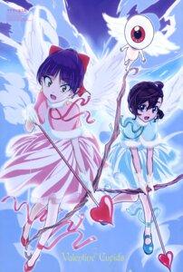 Rating: Safe Score: 18 Tags: dress gegege_no_kitaro inuyama_mana medama-oyaji neko_musume pointy_ears shimizu_sorato valentine weapon wings User: drop