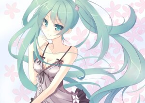 Rating: Safe Score: 45 Tags: cleavage dress hatsune_miku kujou_ichiso vocaloid User: blooregardo