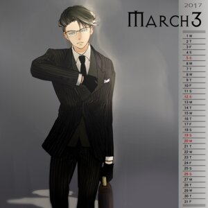 Rating: Safe Score: 4 Tags: business_suit calendar levi male megane shingeki_no_kyojin tagme User: charunetra