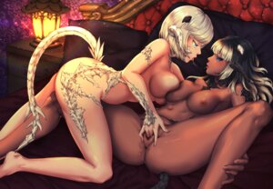 Rating: Explicit Score: 50 Tags: anus ass final_fantasy final_fantasy_xiv fingering foxy_rain horns naked nipples pussy pussy_juice tail uncensored yuri User: Mr_GT