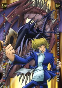 Rating: Safe Score: 8 Tags: calendar hermos_no_tsume horns jounouchi_katsuya male monster red_eyes_black_dragon tail wings yugioh User: vistaspl