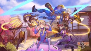 Rating: Safe Score: 70 Tags: akiyama_mio ass bodysuit cosplay d.va gun headphones hirasawa_yui k-on! kotobuki_tsumugi mercy_(overwatch) nakano_azusa overwatch pharah steamy_tomato tainaka_ritsu tracer weapon widowmaker wings User: Mr_GT