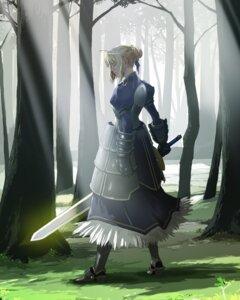 Rating: Safe Score: 31 Tags: armor dress enami_katsumi fate/stay_night saber sword User: Velen