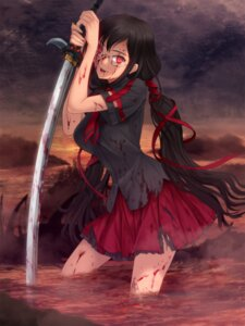 Rating: Safe Score: 51 Tags: blood blood-c blood_the_last_vampire kisaragi_saya megane moonknives seifuku sword torn_clothes User: animeprincess