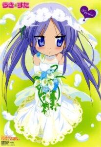 Rating: Safe Score: 28 Tags: dress hiiragi_kagami lucky_star ueno_chiyoko wedding_dress User: Radioactive