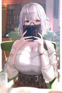 Rating: Safe Score: 26 Tags: cleavage hololive megane shirogane_noel sweater yoiyoi_uruu User: mash