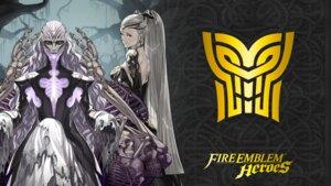 Rating: Questionable Score: 8 Tags: dress eir_(fire_emblem) fire_emblem fire_emblem_heroes hel_(fire_emblem) kozaki_yuusuke nintendo no_bra torn_clothes wallpaper User: fly24
