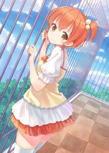 Rating: Safe Score: 54 Tags: hoshizora_rin hyuuga_azuri love_live! thighhighs User: blooregardo