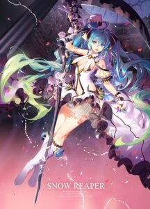 Rating: Safe Score: 86 Tags: atdan dress hatsune_miku no_bra see_through tattoo vocaloid weapon User: Mr_GT