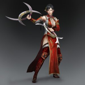 Rating: Safe Score: 10 Tags: asian_clothes cg cleavage dynasty_warriors dynasty_warriors_8 heels lian_shi no_bra thighhighs weapon User: Radioactive