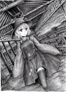Rating: Safe Score: 7 Tags: monochrome moriya_suwako nobita thighhighs touhou User: Radioactive