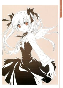 Rating: Safe Score: 47 Tags: angel dmyo dogs dress monochrome nill snow_ring wings User: fireattack