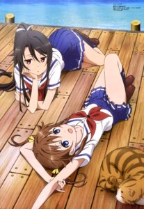 Rating: Safe Score: 71 Tags: high_school_fleet misaki_akeno munetani_mashiro neko seifuku yamakawa_kouji User: drop