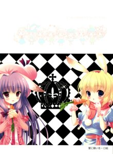 Rating: Safe Score: 12 Tags: alice_margatroid animal_ears bunny_ears chocolate_cube miwa_futaba patchouli_knowledge touhou User: Radioactive
