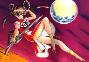 Rating: Safe Score: 3 Tags: chinadress crease devil_hunter_yohko mano_yohko sword User: Radioactive