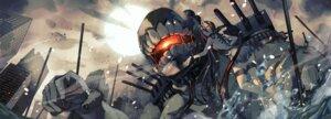 Rating: Safe Score: 16 Tags: battleship-symbiotic_hime dress fujita_(condor) garter horns kantai_collection no_bra wet User: Mr_GT