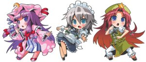 Rating: Safe Score: 12 Tags: chibi dress hong_meiling izayoi_sakuya lolita_fashion maid patchouli_knowledge patricia touhou User: Radioactive