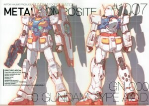 Rating: Safe Score: 6 Tags: 0_gundam crease gun gundam gundam_00 katoki_hajime mecha User: Rid