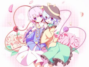Rating: Safe Score: 13 Tags: komeiji_koishi komeiji_satori machily touhou wallpaper User: yumichi-sama