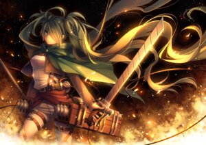Rating: Safe Score: 54 Tags: hatsune_miku parody shingeki_no_kyojin sword tid vocaloid weapon User: Mr_GT