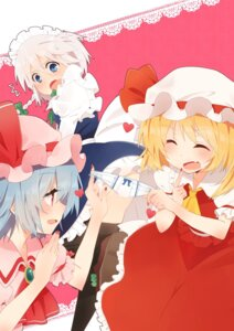 Rating: Questionable Score: 13 Tags: ema20 flandre_scarlet izayoi_sakuya pantsu remilia_scarlet thighhighs touhou User: Radioactive