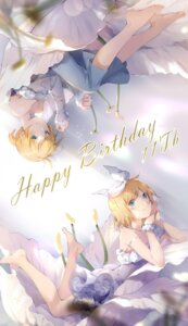 Rating: Safe Score: 25 Tags: dress hmniao kagamine_len kagamine_rin vocaloid User: BattlequeenYume
