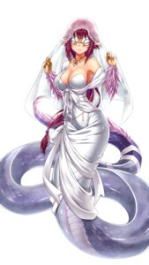 Rating: Safe Score: 46 Tags: cleavage dress midnight monster_girl pantyhose pointy_ears tail wedding_dress User: Recksio