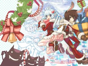 Rating: Safe Score: 15 Tags: animal_ears bunny_ears christmas dress pointy_ears ragnarok_online stockings thighhighs wings User: blooregardo