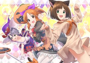 Rating: Safe Score: 29 Tags: abe_nana animal_ears baffu dress halloween maekawa_miku nekomimi otokura_yuuki tail the_idolm@ster the_idolm@ster_cinderella_girls thighhighs witch User: Mr_GT