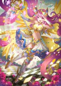 Rating: Safe Score: 24 Tags: armor cleavage heels hongse_beiyu thighhighs weapon wings User: Mr_GT