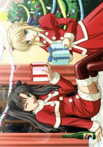 Rating: Safe Score: 12 Tags: christmas fate/stay_night ishihara_megumi saber thighhighs toosaka_rin User: Radioactive