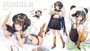 Rating: Questionable Score: 4 Tags: chibi cleavage heels ji_dao_ji pantsu skirt_lift User: Mr_GT